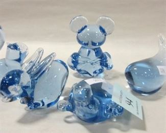 BLUE ART GLASS ANIMALS