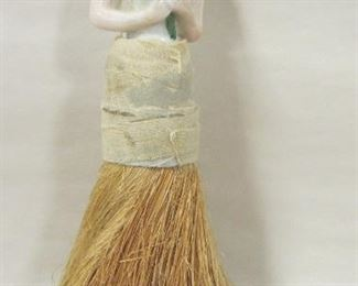 ANTIQUE HALF DOLL WHISK BROOM