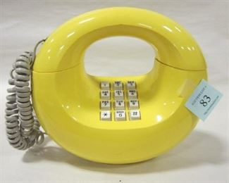 YELLOW PUSH BUTTON PHONE