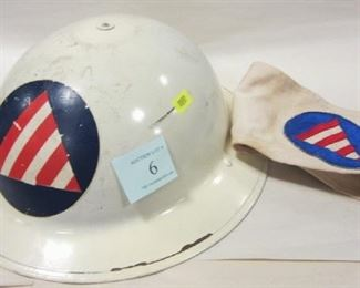 CIVIL DEFENSE HELMET AND ARM BAND