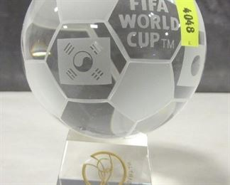 GLASS JAPANESE/KOREA 2000 SOCCER TROPHY