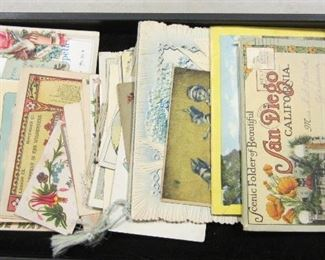 Old post cards, greeting cards