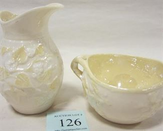 Black mark Belleek creamer/sugar.  3RD BLACK MARK