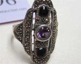 sterling marchacite ring