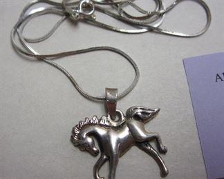 sterling horse pendant