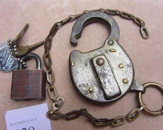 Old railroad lock, no key