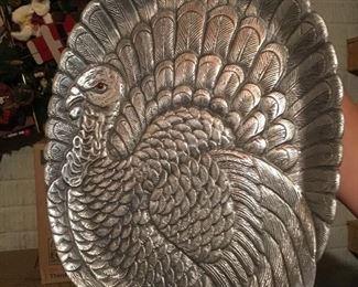 "Arthur Court ""armetale"" turkey platter"
