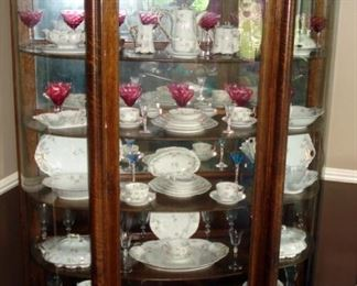 Museum Quality Oak China Cabinet