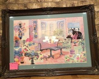 Signed Eileen Seitz framed art