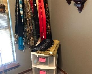 Tons and Tons of belts and scarves