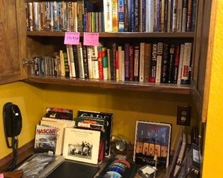 DVDS, CDs, books