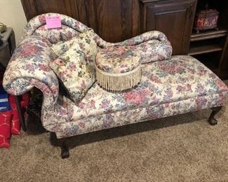Floral fainting couch