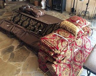 Custom drapes and cornice boards