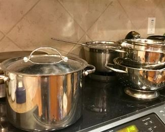 Anolon, Faberware Millenium, & other nice cookware, Stainless strainer set