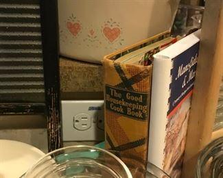 Vintage Good Housekeeping Cookbook, glassware,more
