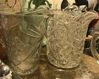 Pattern glass pitchers