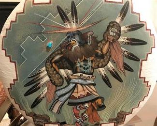 Lorenzo Stewart signed Native American pottery art piece