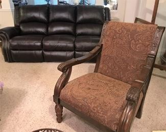 Electric reclining sofa, upholstered arm chair