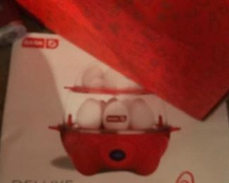 New in box Deluxe Egg Cooker