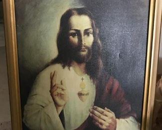 Framed religious art