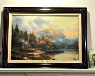 """Thomas Kincade authenticated offset lithograph w/certificate """"End of a Perfect Day III"""