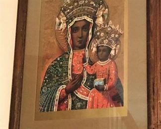 Beautiful African madonna and child