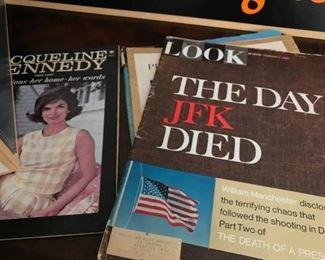 Close up of magazines