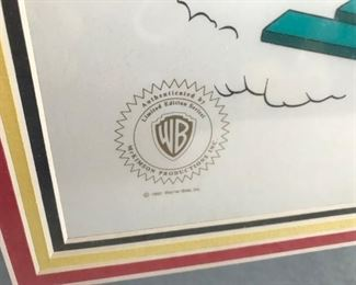 Close up of WB stamp
