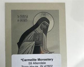 From the back of Saint Teresa print
