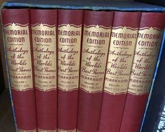 Memorial Edition set of poem anthologies