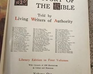 Vintage illustrated The Story of the Bible, Vol. 1