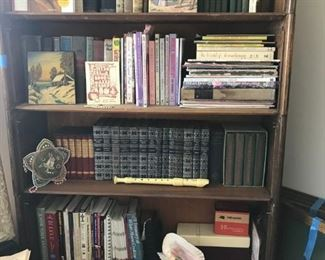 Lots of vintage, antique, and modern books. (Bookcase not for sale)