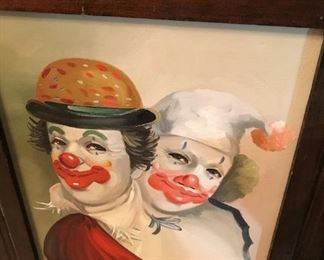 Original clown art signed Blossom