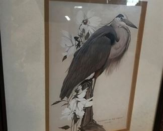 """Signed Art LaMay print """"Majesty of the Marshes"""""""