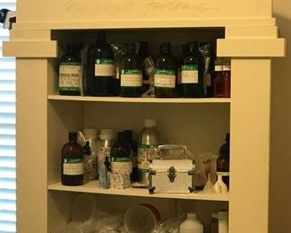 Cabinet for sale, Some of the oils are for sale