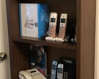 Various telephone and other electronics