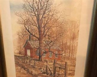 Framed, signed, low number, Marge Brandt print #277/1500