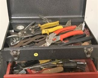 Small tool chest and tools