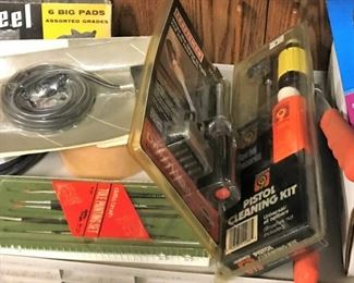Tole painting brushes, Pistol cleaning kit