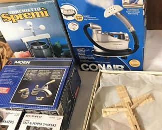 Moen faucet, Conair steamer, more