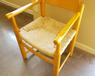 Several Vintage Rush Seat Chairs