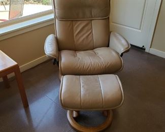 Another Danish Modern Stressless Chair with Ottoman