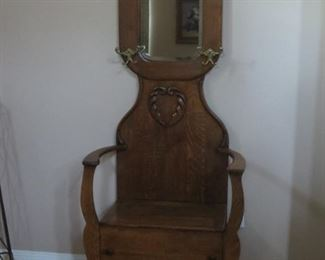 Antique Hall Tree - $90