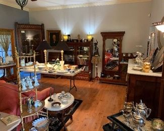 victorian furniture, fine china, portrait art
