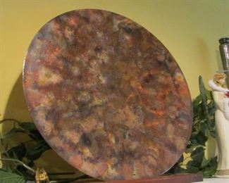 large metal disc