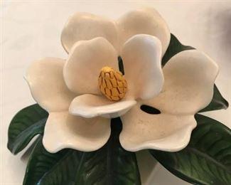 Beautiful ceramic magnolia (hangs on wall)