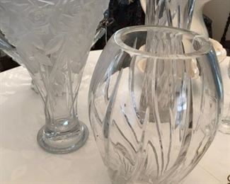 Crystal and decorative vases