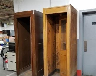Antique phone booths (no phones)