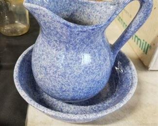 Gallstin-sutton bleu Cordon Cook 'N' Serve Stoneware pitcher & bowl