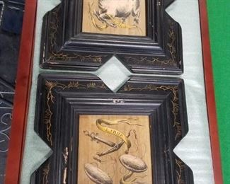 Framed Astrological pictures Taurus & Libra